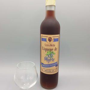 liqueur artisanal de myrte rouge